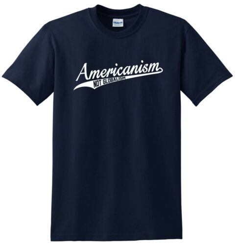 Americanism not Globalism T-shirt National Pride Tee In Baseball Design