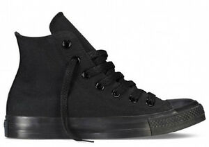 Converse Chucks All Star Hi m3310c Black Canvas Scarpe Sneaker Unisex Nero