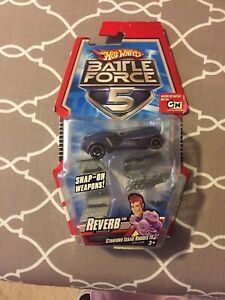Hot-Wheels-Battle-Force-5-Reverb-Car-With-Snap-on-Blasters