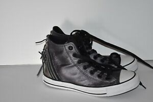 74b4948c6129 CONVERSE 544917C Chuck Taylor All Star Leather TRI ZIP High Top Grey ...