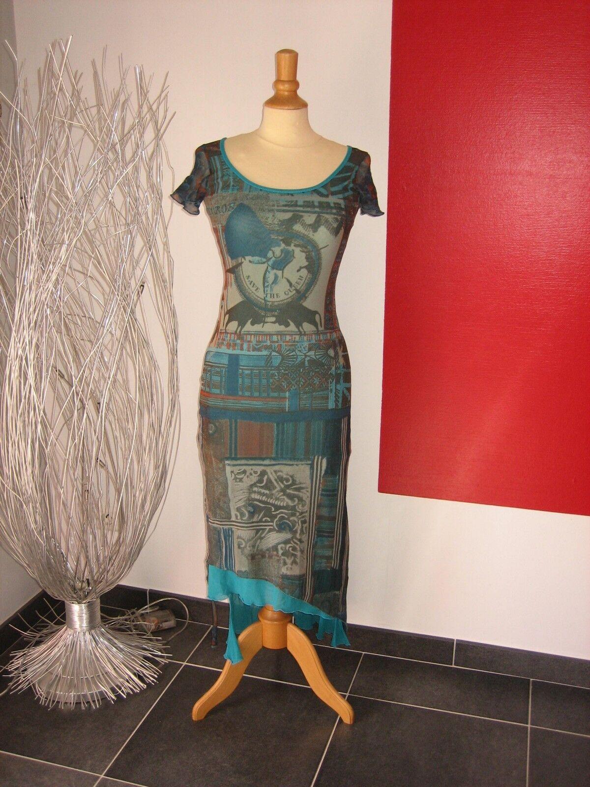 ELEGANTE ROBE LONGUE LONGUE LONGUE COLORée MAXI DRESS SAVE THE QUEEN T M 34 36 38 6f4e78