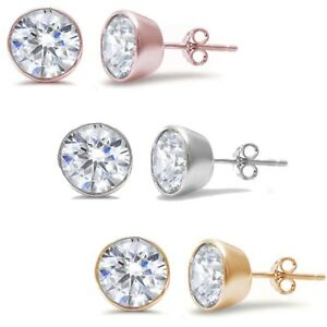 c3867c677 Uhren & Schmuck Ohrschmuck 2mm-10mm Round Casting Stud Earrings .925 Sterling  Silver Three Colors Available