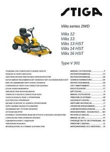 Array - details about stiga villa 14 hst instruction manual pdf  rh   ebay co uk