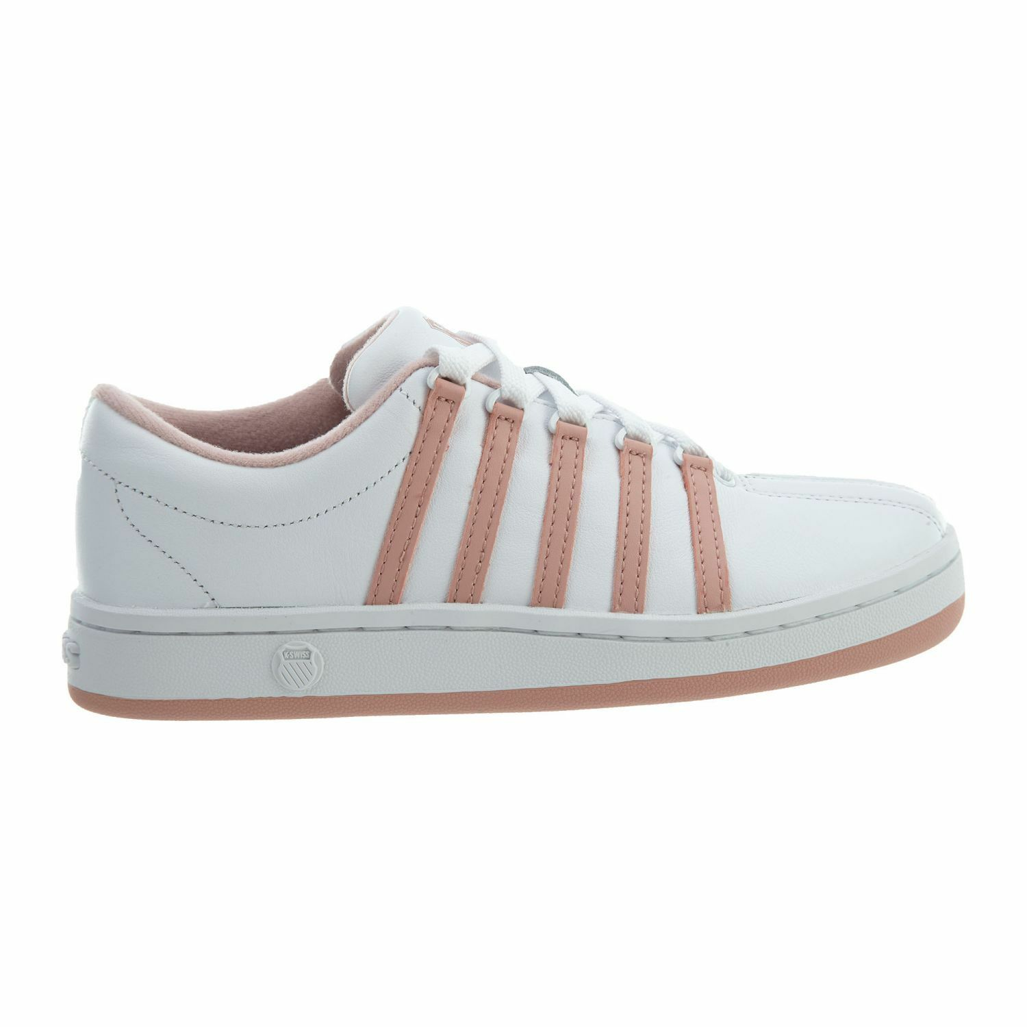 K-Swiss Classic 88 Womens 92248-145 White Cameo Pink Leather shoes Size 6.5