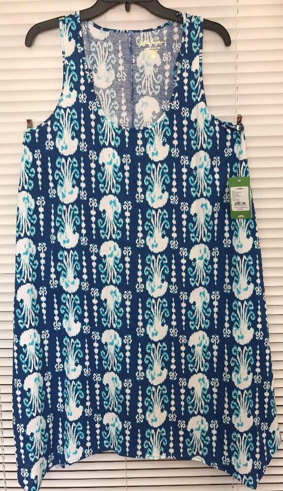 NWT LILLY PULITZER MELLE DRESS INDIGO GET IN LINE SZ S AUTHENTIC