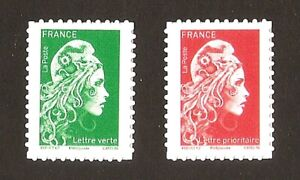 2019-Autoadhesifs-timbres-1653-1654-MARIANNE-L-039-ENGAGEE-NEUFS