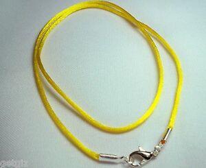 Necklace Chains Gold Silver Plated Lobster Clasp Bayonet Spring Ring Black Cords