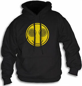 Hoody-Charismatic-Smiley-Hypnotic-Funny-Face-Mens-Women-039-s-Hooded-Top-Sm-XXL