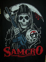 Sons Of Anarchy Stylized Reaper Double Sided Print T-shirt