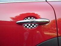 Mini Cooper Checkered Flag Car Auto Door Scratch Guard Protector Fit All Usa