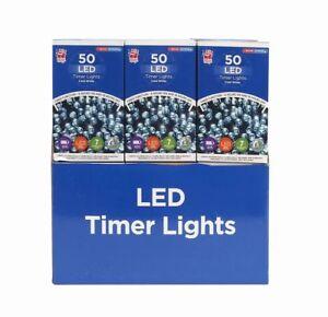 50 Led Light Timer Battery Operated Light Indoor Outdoor Lights Ebay