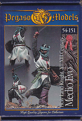 PEGASO MODELS 54-151 - HOLY LAND KNIGHT XII-XIII CENTURY 54mm WHITE METAL NUOVO