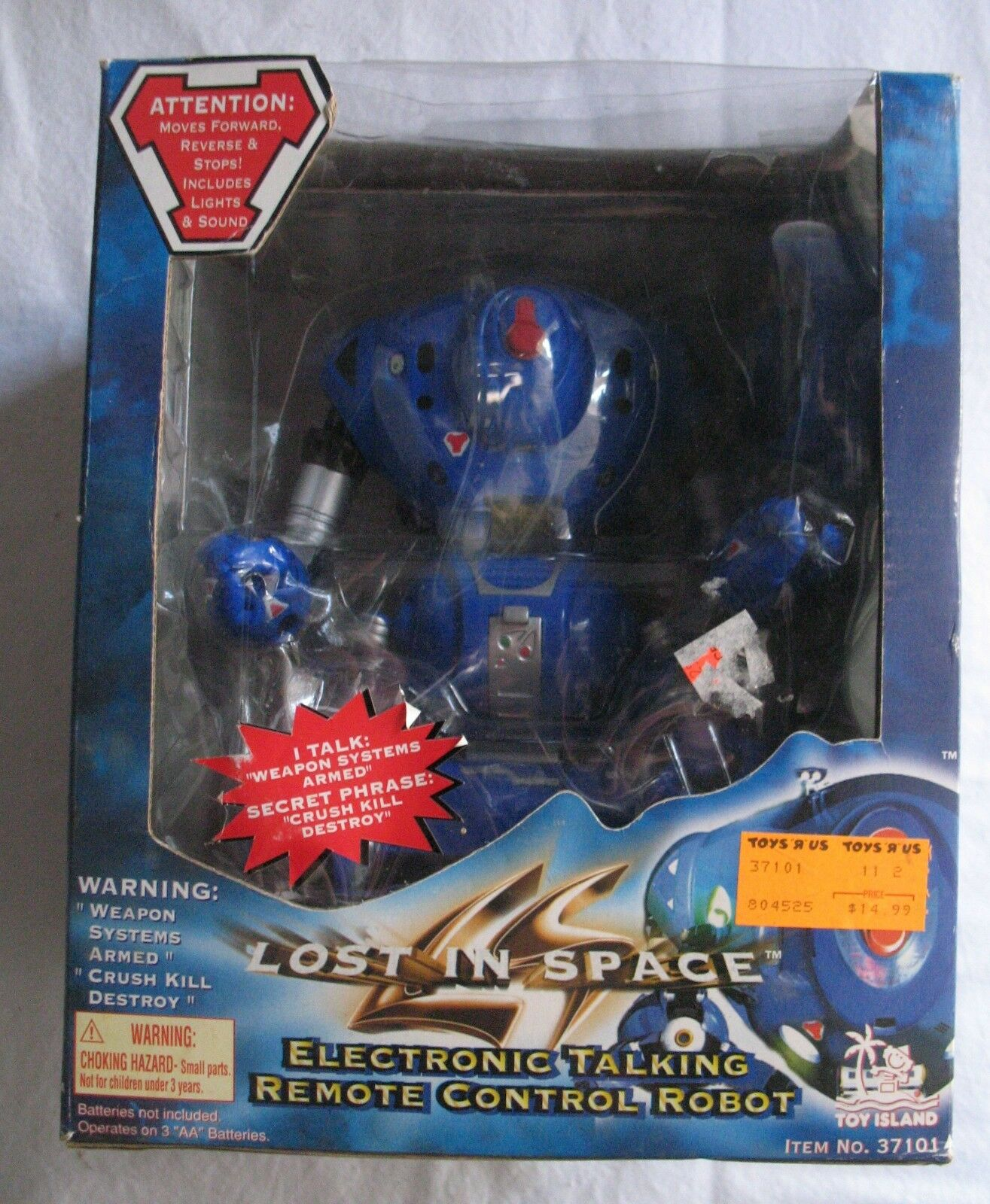 LOST IN SPACE Electronic Talking REMOTE CONTROL ROBOT Toy Island NEW IN OPEN BOX