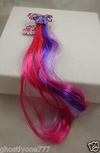My-little-pony-barrette-faux-pink-purple-hair-strands