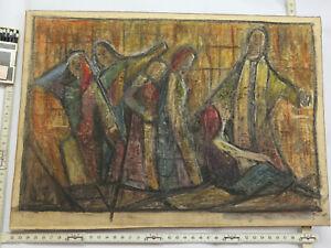 GERHARD-FISCHER-GEMALDE-ALTER-ANTIK-ADOLF-HOLZEL-JESUS-FRAUEN-ABSTRAKT-BILD