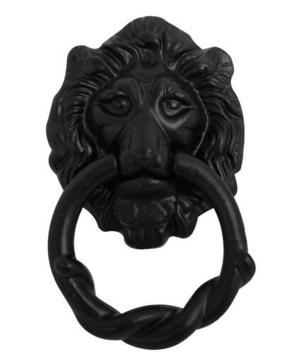 159 mm Noir Antique Fonte Lion Head Door Knocker par Noir Pays Foundry