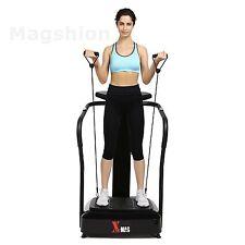 X-Mag Full Body Platform Plate Vibration Crazy Fit Machine W/ Bandx2 2000W Black