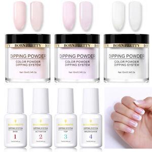 7-Bottles-BORN-PRETTY-Nail-Dipping-Powder-Liquid-Kit-No-UV-Need-Long-Lasting