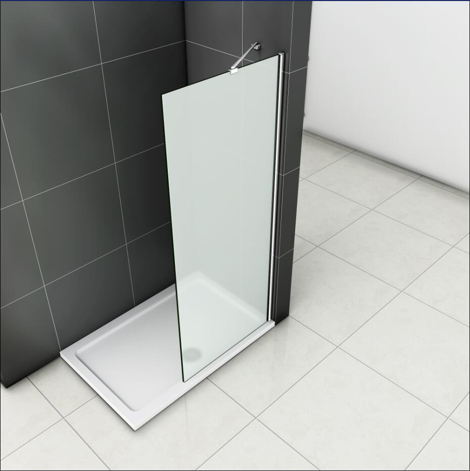 80x190cm Walk in Duschabtrennung Seitenwand Dusche 8mm NANO Echtglas Duschwand