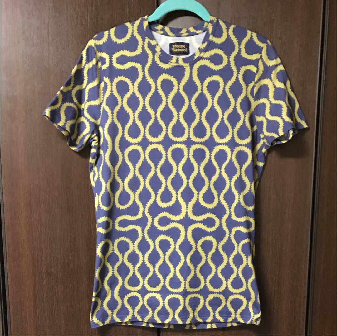Vivienne Westwood Squiggle T-shirt Size L Good condition Rare From JAPAN F S