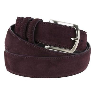 Cintura da uomo in camoscio bordeaux artigianale made in Italy