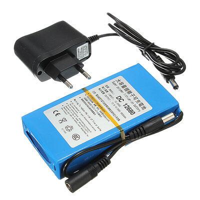 Batterie 6800mAh DC 12V Rechargeable Lithium-ion Li-ion EU Plug Chargeur Power