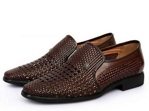 new mens dress formal summer sandal woven leather cose toe