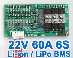 22.2V 24V 25.2V 60A Li2MnO4 ion Li-ion Li-Po LiPo Polymer Battery BMS PCB System