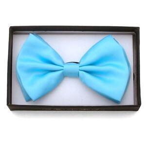 Nouveau-Homme-Noue-N-ud-Papillon-Smoking-Fete-de-Noces-Col-Cravate-Bleu-Pastel
