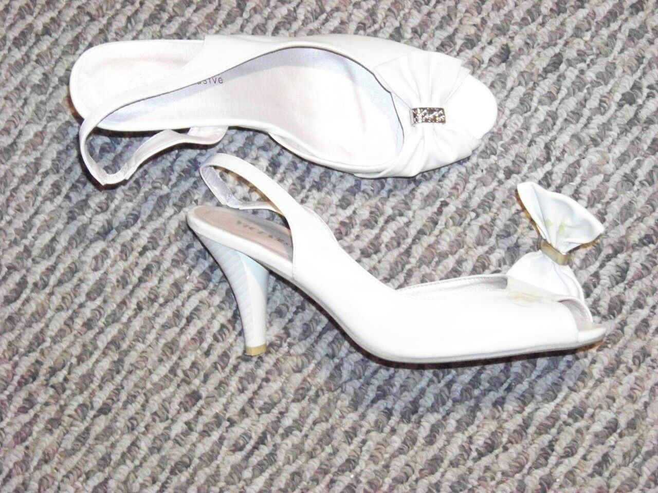 womens vices exclusive shoes cream slingback open toe bow shoes exclusive size 39 e12723