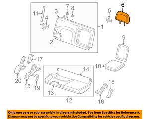 Surprising Nissan Oem 12 16 Frontier Rear Seat Headrest Head Rest 864309Bd5D Ebay Wiring Digital Resources Tziciprontobusorg