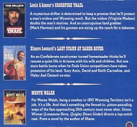 3 Tom Selleck Western Movies, Dvd Set, Crossfire Trail, Saber River, Monte Walsh