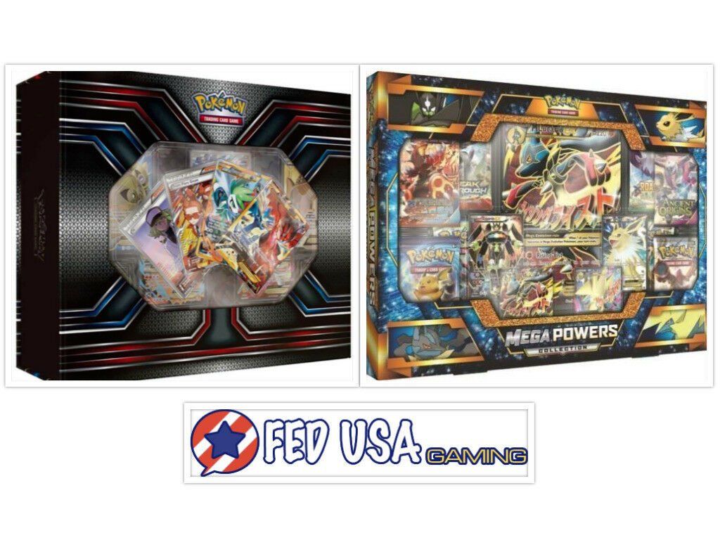 Pokemon TCG XY Premium Trainer's Trainer's Trainer's Kit Collection & Mega Powers Collection Box e17087