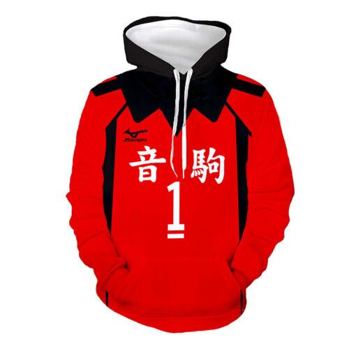 Details about  /Haikyuu! Nekoma High School NO.1 Print Hoodie Hooded Pullover Tops Sweatshirt