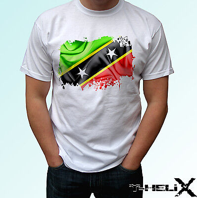 mens womens kids /& baby Saint Kitts and Nevis flag white t shirt top country