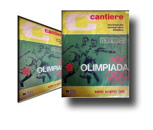 OLIMPIADI-GIOCHI-OLIMPICI-1968-MEXICO-messico-1968-con-inserto-POSTER