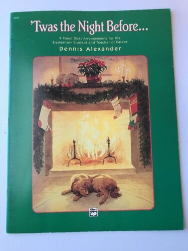 Twas The Night Before Christmas Piano Duet Book Songbook Sheetmusic Elementary