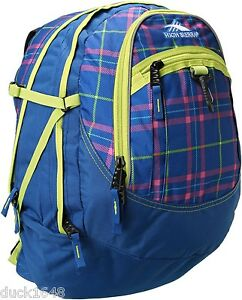 High Sierra Fat Boy Backpack Blue Plaid 53639 3971 Back To