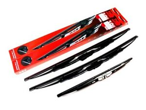 FORD-KA-MK1-1996-2008-Front-amp-Rear-Windscreen-Wiper-Blades-COMPLETE-SET-PE1162