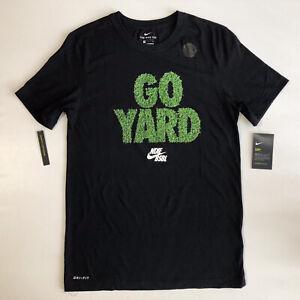 Nike-Men-039-s-Dri-Fit-Go-Yard-Graphic-Baseball-SS-Black-T-Shirt-Sz-S-BQ9765-010