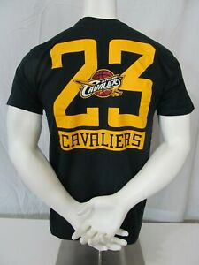 san francisco 5f590 97c65 Details about LEBRON JAMES Used 2014-18 Alstyle Cleveland Cavaliers  Screened T-Shirt Jersey Lg