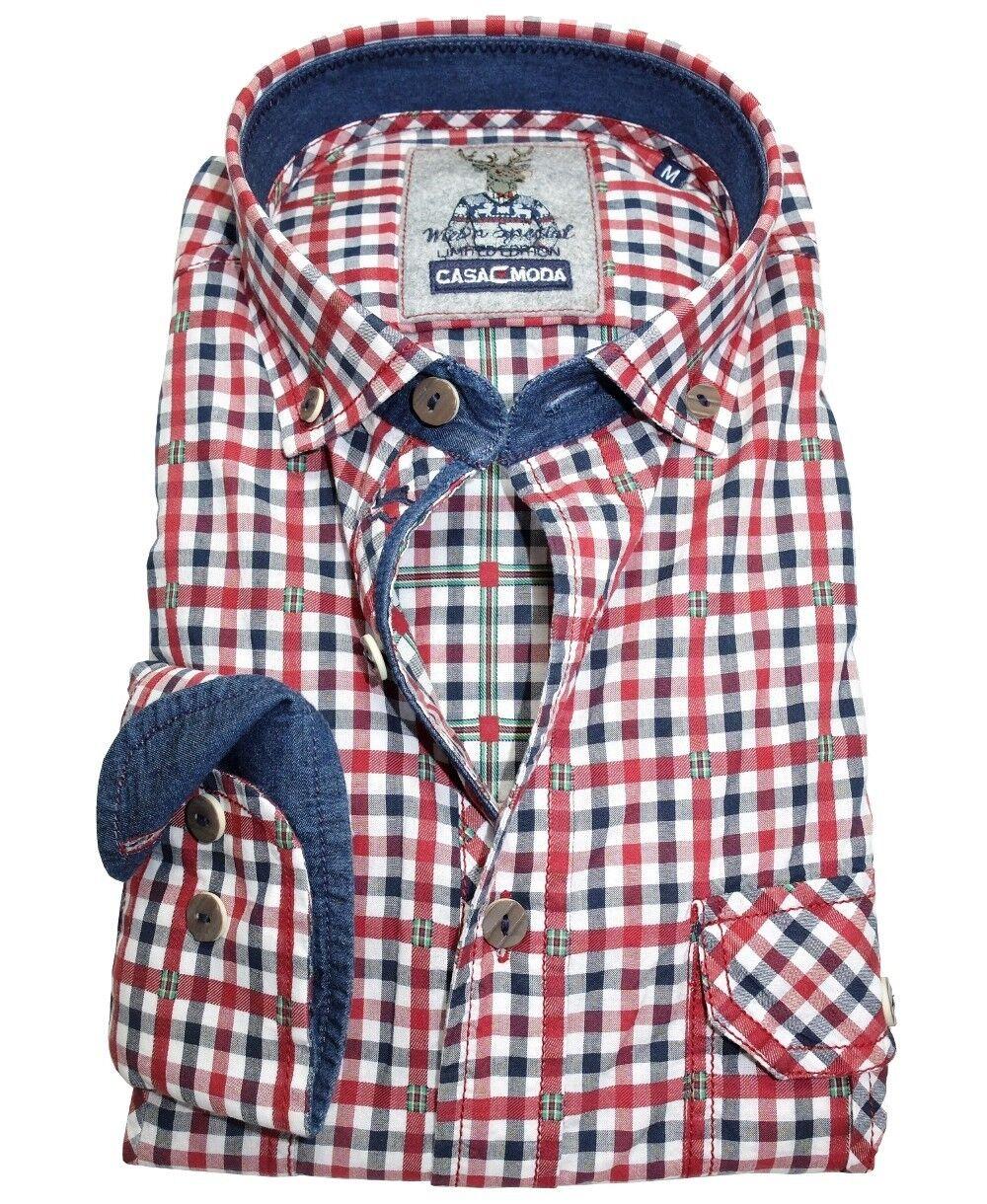 Casa Moda Trachten Freizeithemd Langarm Wies´n Special Edition Gr. L bis 5XL