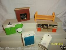Fisher Price 1978-1979 Doll House Furniture lot 253 254 257 258 259 Baby & More