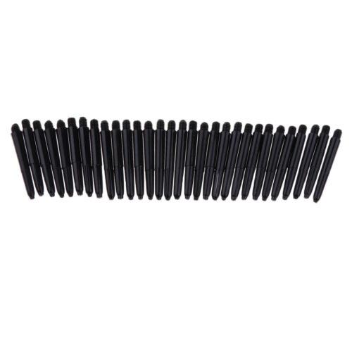 Lot 30 Black Plastic Dart Stems Shafts /& Standard 2BA Thread for Indoor Game