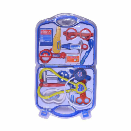Childs Kids Doctor Nurse Carry Case Medical Kit Play Set Role Play Toy Gift