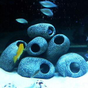 Aquarium Shrimp Stone Fish Tank Cichlid Cave Breeding Rock Ornament Decorations