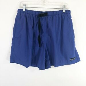 Vintage-90-039-s-Columbia-Baggies-Shorts-Womens-Size-XL-Blue-Belted-Active-Hiking