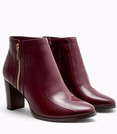 Next rouge Patent Formal Zip bottes 9 43