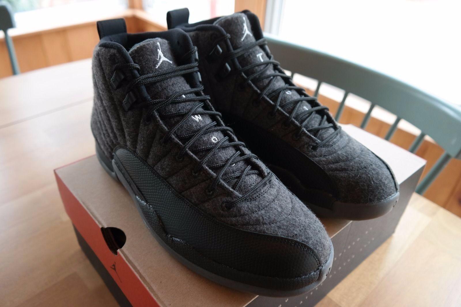 Nike Air Jordan Retro / XII lana gris oscuro / Retro negro Hombre material raro 508391