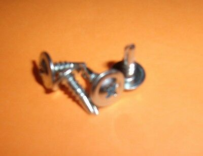 25 1//2 Self Tapping Drilling Wafer Head Screw Zinc Car Audio Ground Install
